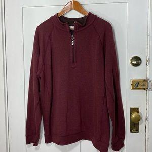 Tommy Bahama Burgundy Brown Reversible Sweatshirt